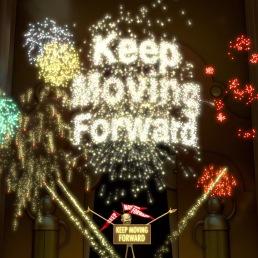 Keep Moving Forward slogan