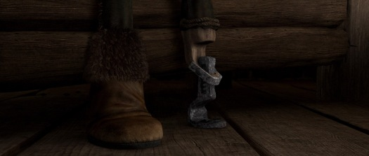 Hiccup's prosthetic foot